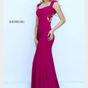 Pink/Magenta Sherri Hill gown size 4
